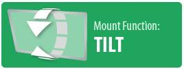 Mount Function: Tilt   Tilt TV Wall Mount