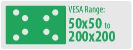 VESA Range: 50x50 to 200x200   Small TV Wall Mount