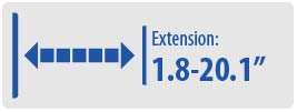 """Extension: 1.8-20.1""""   Small TV Wall Mount"""