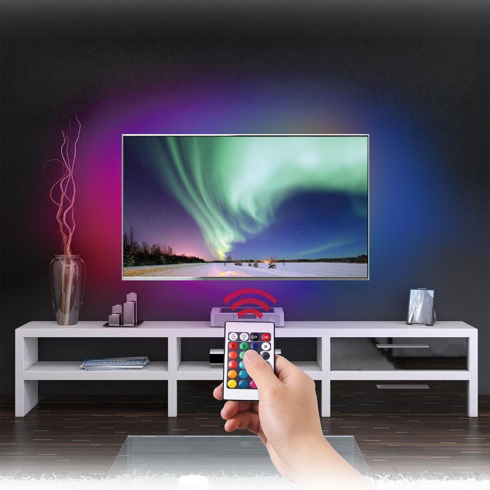 Home Theater TV LED Backlight Kit MTB02 | Monster Mounts | Wall