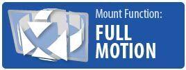 Mount Function: Full Motion | Full Motion Ultra TV Wall Mount