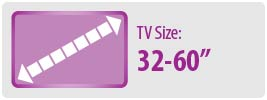 "TV Size: 32""-60""   Medium TV Wall Mount"