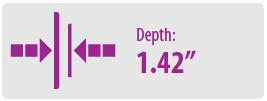 "Depth: 1.42"" | Large TV Wall Mount"