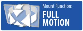 Mount Function: Full Motion | Full Motion Pivot TV Wall Mount