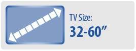 "TV Size: 32""-60"" | Medium TV Wall Mount"