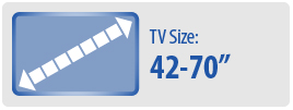 "TV Size: 42""-70"" 