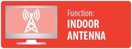 Function: Antenna | UltraThin Indoor Full HD Antenna