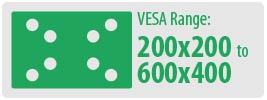 VESA Range: 200x200 to 600x400 | Medium TV Wall Mount