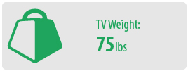 TV Weight: 75 lbs   Large TV Wall Mount