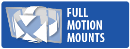 Monster Mounts Full Motion or Articulating mount for Flatscreen TV