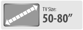 Monster Mounts suitable for 50 to 80 inch TVs