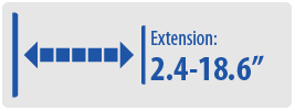 Extension: 2.36-18.62 | Large TV Wall Mount