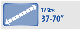 """TV Size: 37-70"""" 