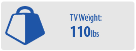 TV Weight: 110 lbs | Large TV Wall Mount