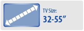 "TV Size: 32-55"" | Medium TV Wall Mount"