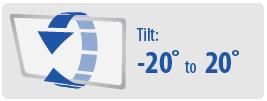 Tilt: -20° to 20° | Medium TV Wall Mount