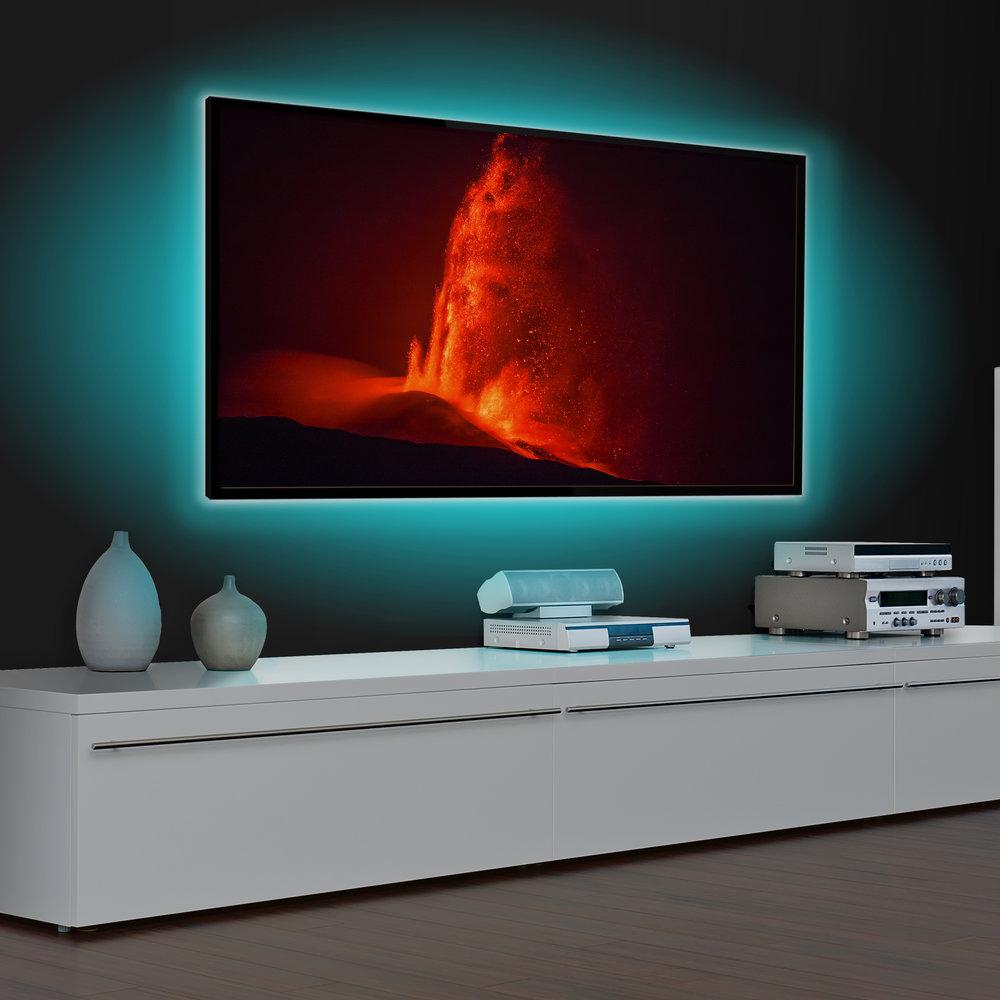 Quad Strip Home Theater TV LED Backlight Kit MTB04 | Monster Mounts