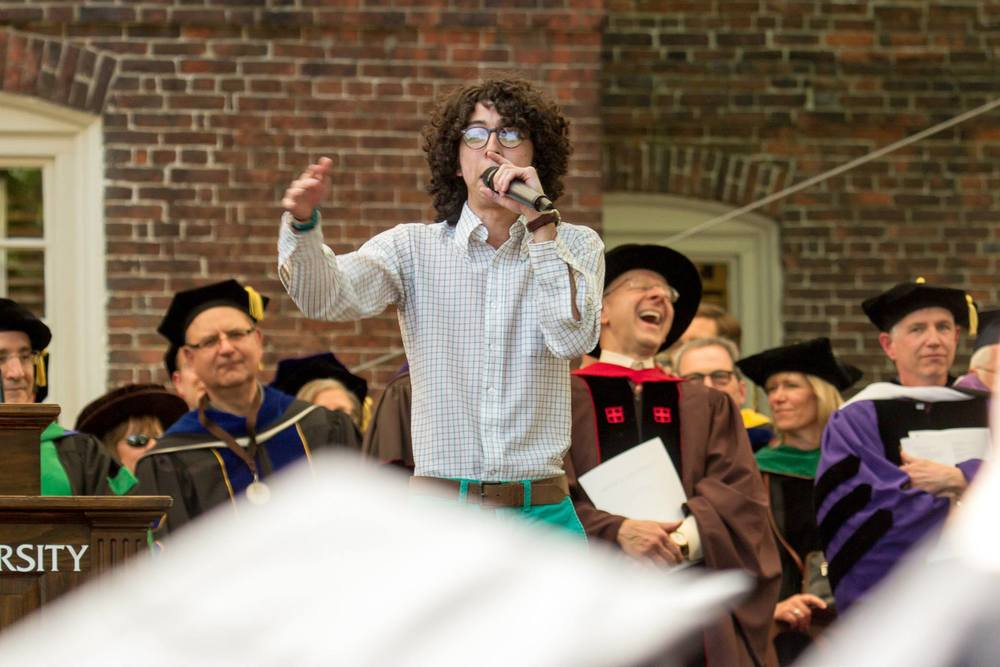 ( )tero performing during Brown U's Commencement Spring 2015, courtesy of Brown University