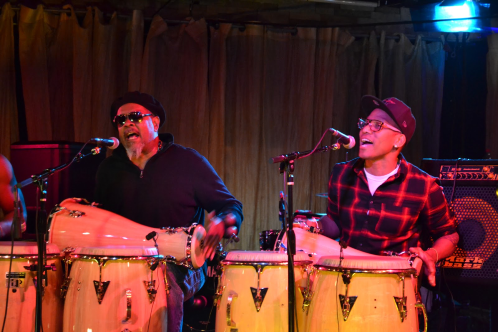 Roman Diaz and Pedrito Martinez playing an Afro-Cuban Rumba together at the Spot Underground.