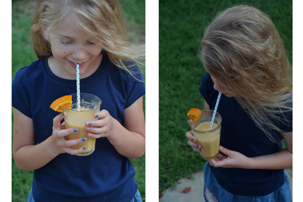 My lil sis enjoying her drink