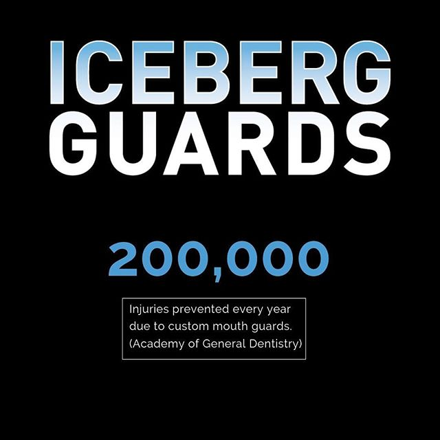 Did you know that 200,000 injuries are prevented every year because of custom athletic mouthguards?  #themoreyouknow #icebergfacts #thebestinsportprotection #forallages #wornbythepros #customfitted #customdesign