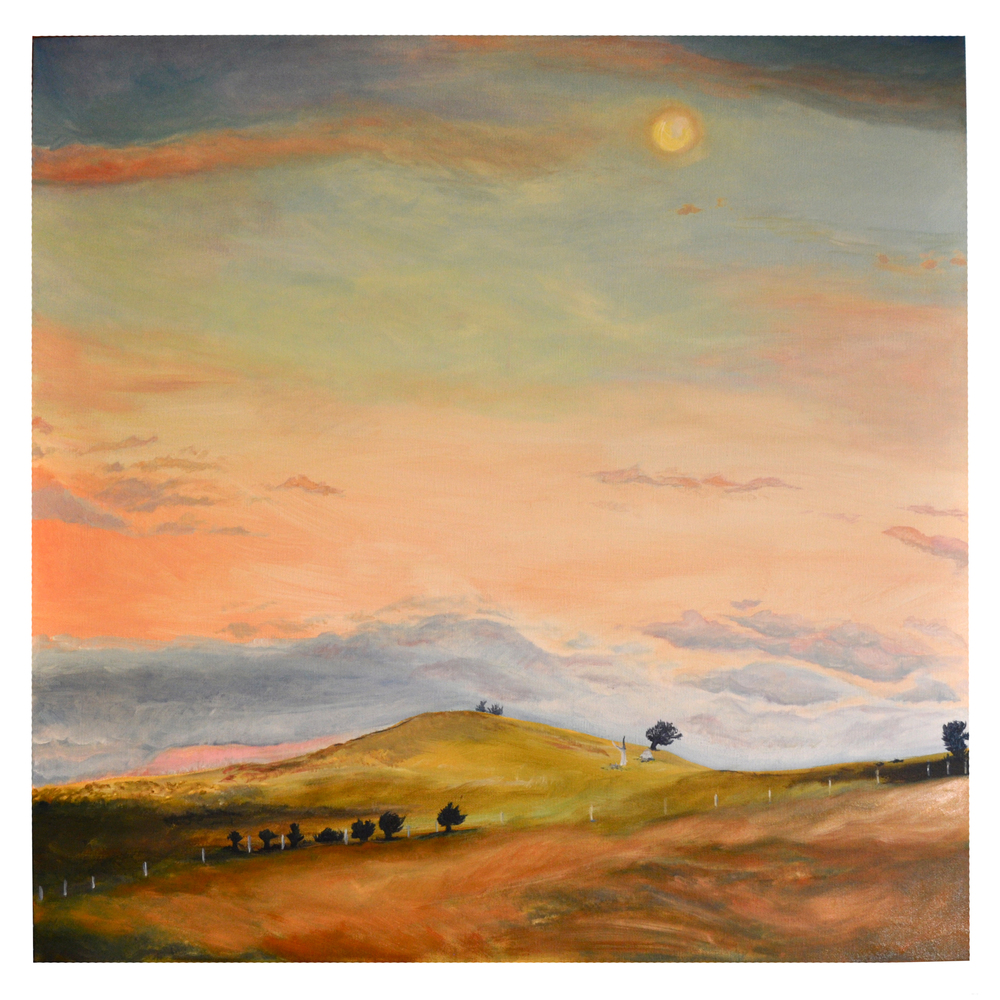 Large landscape of Midlands, Tasmania - commission as gift for husband-to-be on wedding day