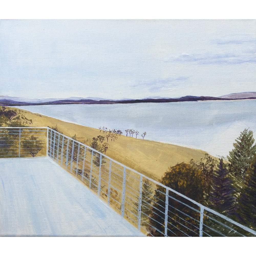 Small landscape of Tasmania - gift commissioned and given to owner of the house with this view