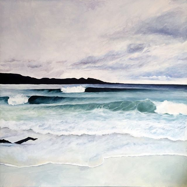 Something I'd been meaning to do for a long time, paint Tasmania's Coast for our house. Thanks to @mikeybrennan for lending me his photo! 🎨🏄🏻‍♂️ . . . . . . #paint #painting #tasmania #hobart #beach #coast #tasmaniancoast #art #canvas
