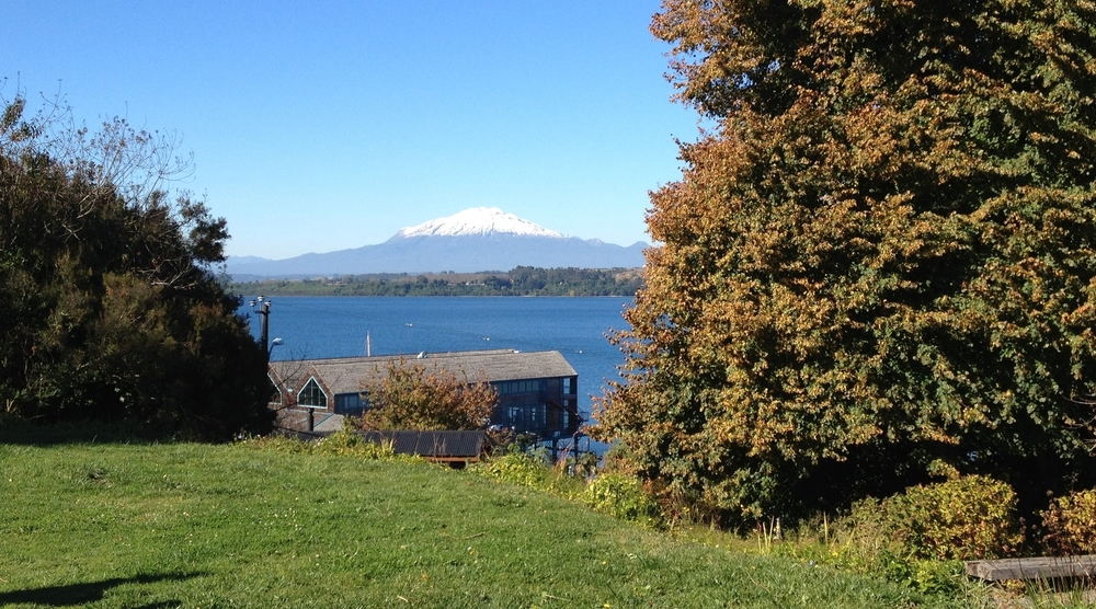 Beautiful views from the hotel in Puerto Varas, Chile