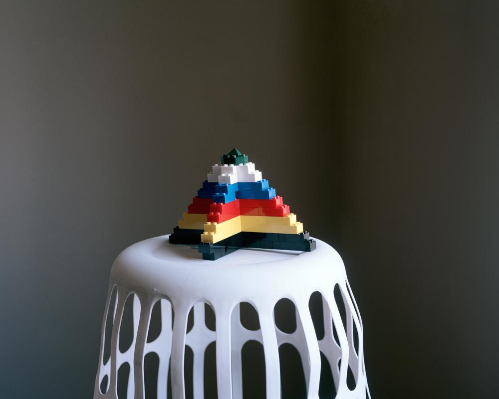 Pyramid Triptych: Legos , 2012