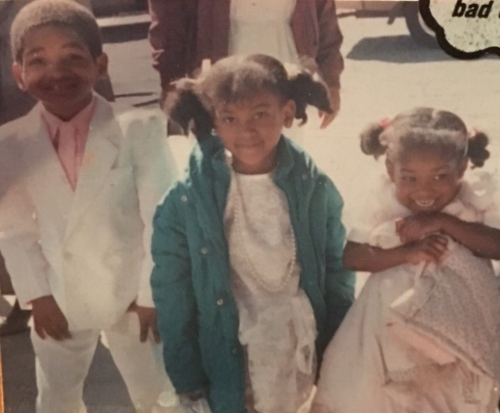 (I am crushing it with my white suit on with my sisters. 80's Babies)