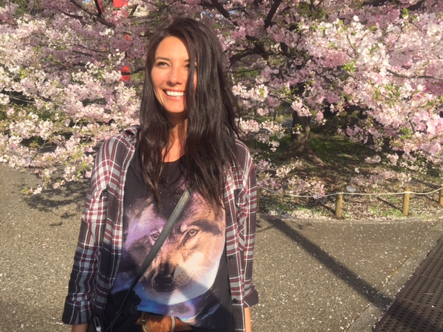 Here's me with cherry blossoms!  Marry me off!
