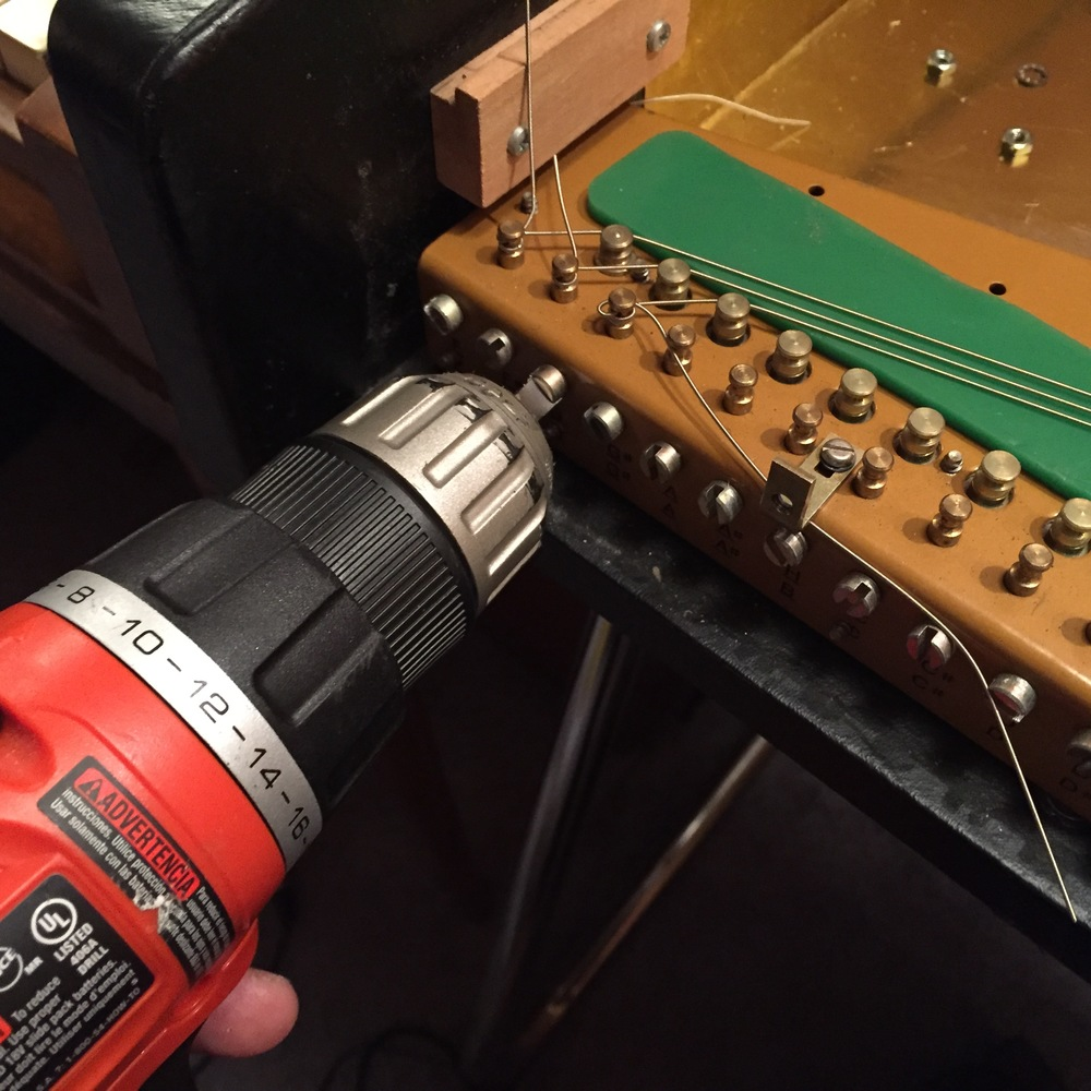 Using a power screw driver makes restringing a lot easier.