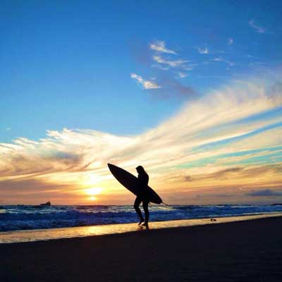 Surfer sillouette San Diego