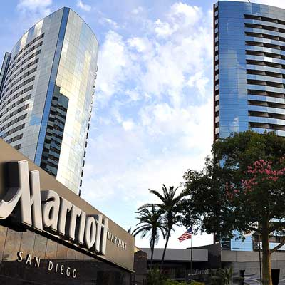 Beautiful Marriott Marquis in a prime San Diego location next to the Convention Center.