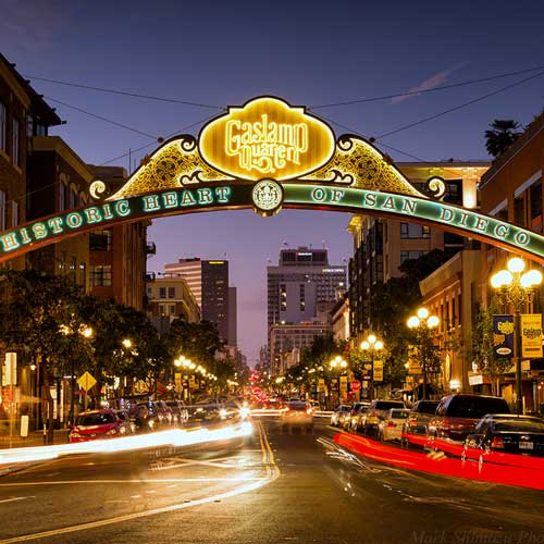 Find lively and trendy hotels in San Diego's Gaslamp District.