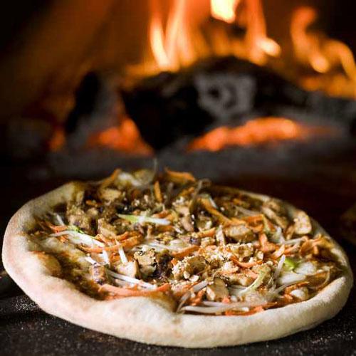 Woodfired pizza at Pizza Nova
