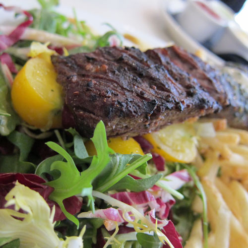 My favorite, Steak Frites at Cafe Chloe in San Diego's East Village