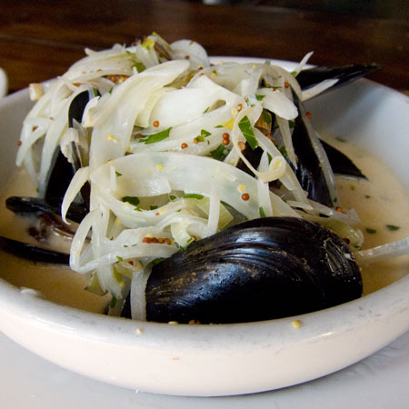 Great moules frites at Blind Lady Ale House