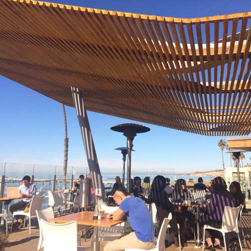 Caroline's Seaside Cafe is a hidden ocean view spot.