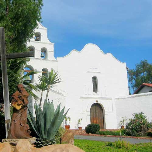 San Diego Mission, a popular side trip before visiting Old Town
