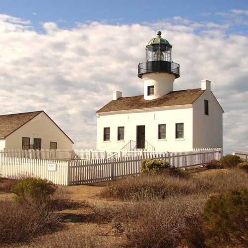 Visit Cabrillo Monument and the old lighthouse which you can tour inside