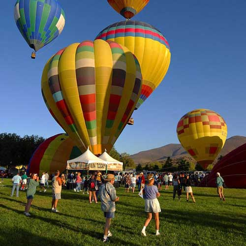 Hot air balloons in Temecula