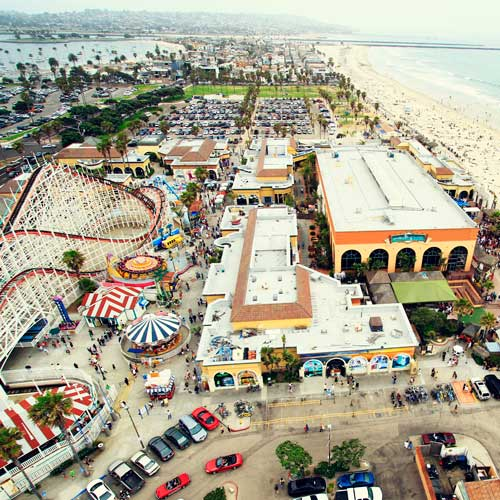 Classic beach side amusement park - Belmont Park