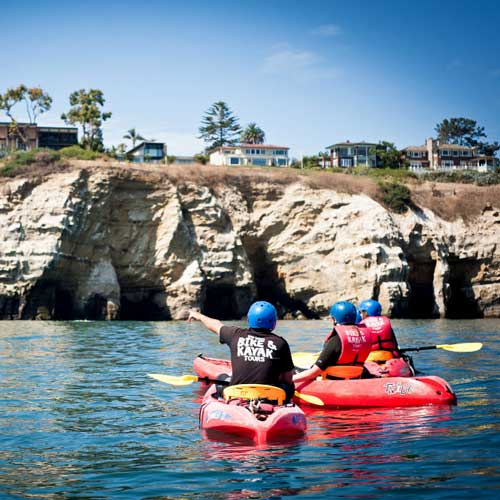 Take a tour to the caves in La Jolla