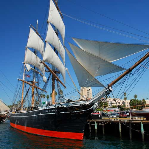 The Star of India at the San Diego Maritime Museum
