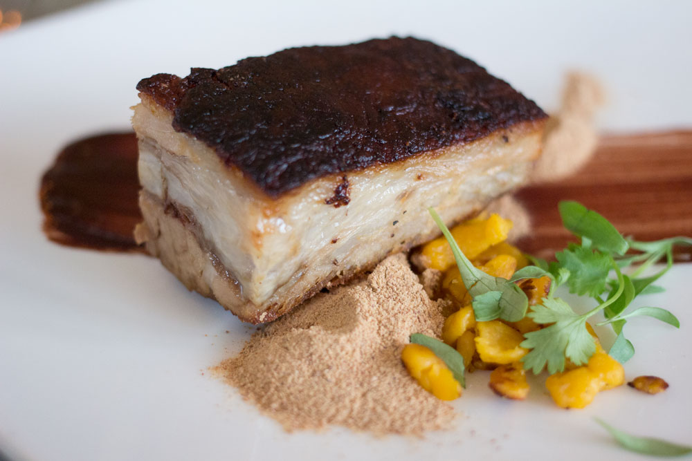 Succulent pork belly