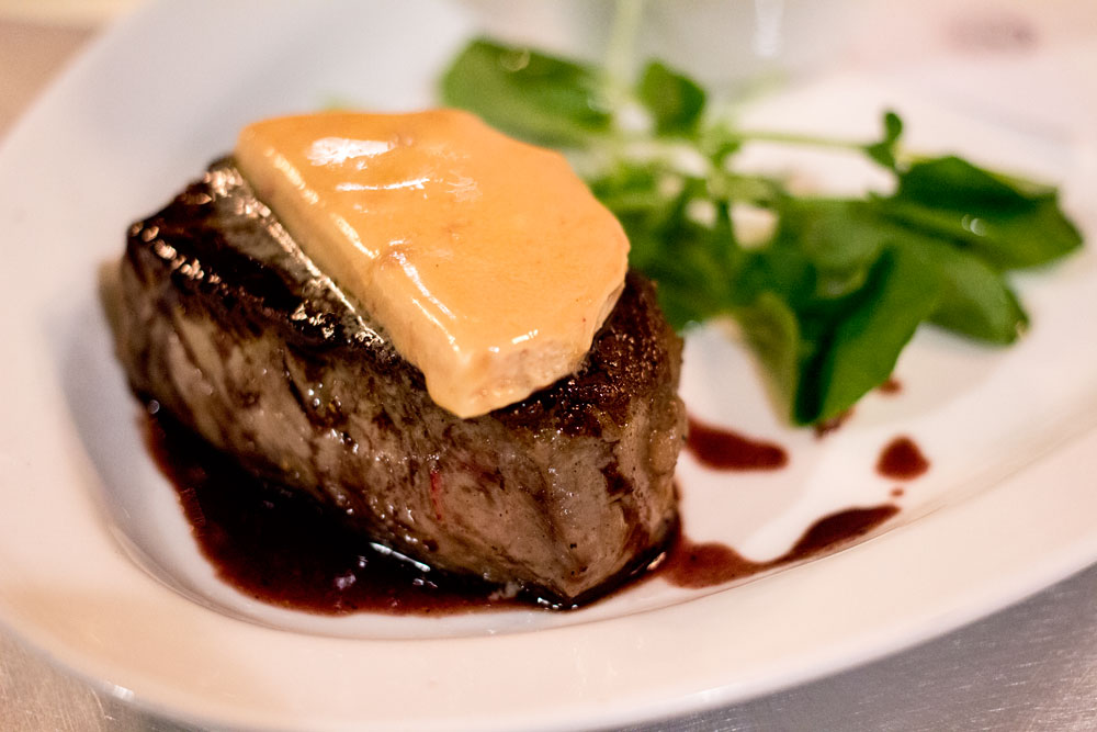 How do you not love this one?  A ribeye steak with foie gras butter?