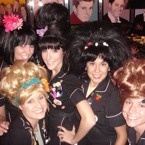 Fun waitresses at Corvette Diner