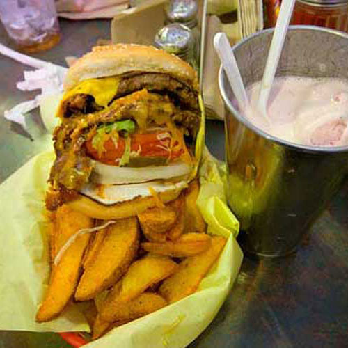 Old school burgers at Hodads